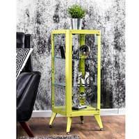 Carbon Loft Aspdin Modern 3-shelf Metal Cabinet
