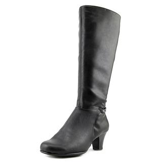 Aerosoles Women's Margarita Black Faux Leather Knee-high Boot