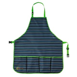 oGrow® High Quality Kids Garden Tool Apron With Adjustable Neck And Waist Belts - Blue Striped