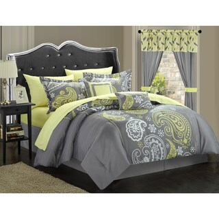 Copper Grove Balmoral Paisley Print Reversible 20-piece Bed in a Bag with Sheet Set