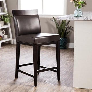 Hazelton Home Terrence Counter Stool In Leather