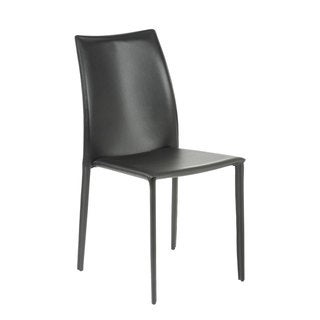 Dalia Black Leather Dining Chairs (Set of 4)