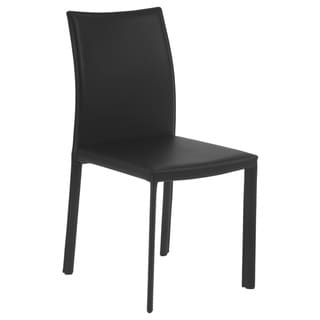 Molly Side Chair (Set of 4) - Black Leather
