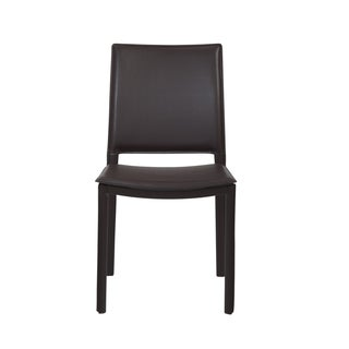 Kate Brown Leather Dining Chairs (Set Of 4)