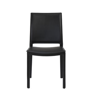 Kate Black Leather Side Chairs (Set of 4)