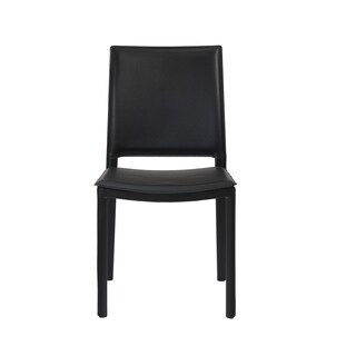 Kate Black Leather Dining Chairs (Set of 2 or 4)