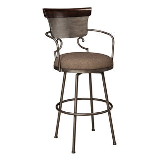 Signature Design by Ashley Moriann Two-tone 30-inch Metal with Back Barstool