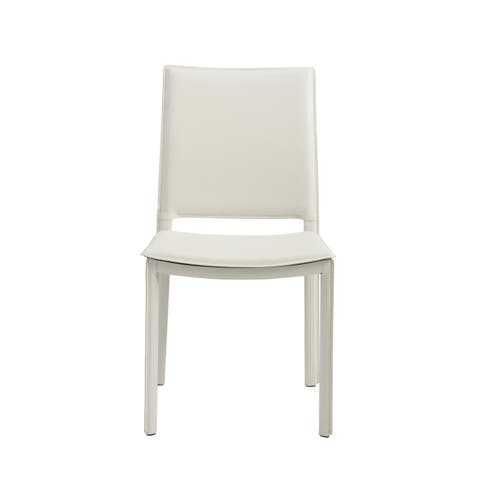 Kate White Leather Dining Chairs (Set of 2 or 4)