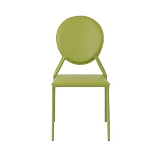 Isabella Green Leather Dining Chairs (Set of 2)