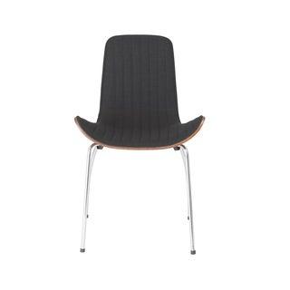 Curt Side Chair (Set of 2) - Black/Walnut/Chrome