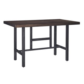Kavara Medium Brown Rectangle Counter Height Table