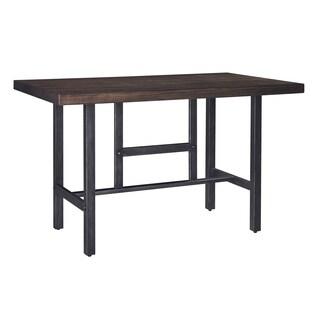 Kavara Medium Brown Rectangle Counter Height Table
