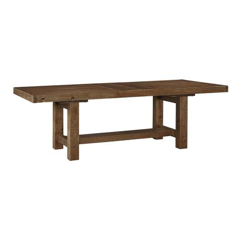 Tamilo Gray/Brown Rectangle Extension Dining Room Table