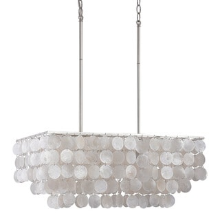 Austin Allen & Company Modern 4-light Polished Nickel Island Fixture