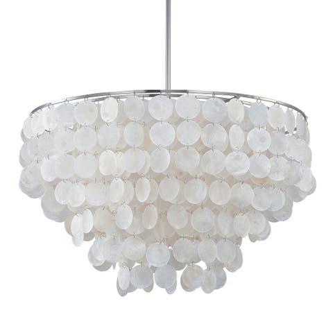Polished Nickel 6-light Pendant - Polished Nickel