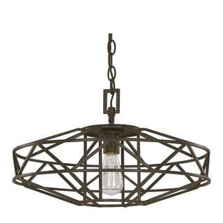 Austin Allen & Company Finn Collection 1-light Textured Brown Pendant