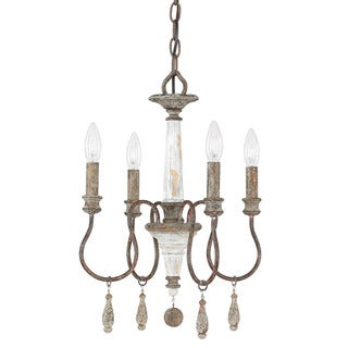 Link to Zoe 4-light French Antique Mini Chandelier Similar Items in Chandeliers
