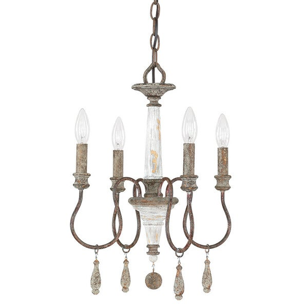 Zoe 4-light French Antique Mini Chandelier. Opens flyout.