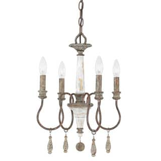 Buy mini chandeliers online at overstock our best lighting deals austin allen company zoe collection 4 light french antique mini chandelier aloadofball Choice Image