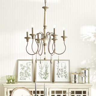 Zoe 6-light French Antique Chandelier