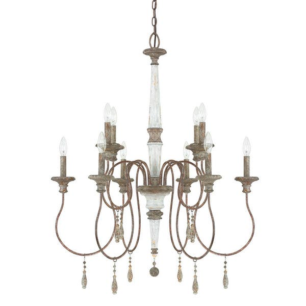 Zoe 10 Light French Antique Chandelier