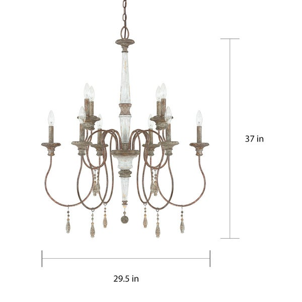 Zoe 10-light French Antique Chandelier