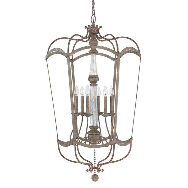 Antique Foyer Lighting : Shop zoe collection light french antique foyer pendant