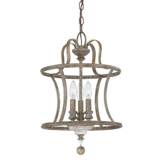 Austin Allen & Company Zoe Collection 3-light French Antique Dual Mount Pendant