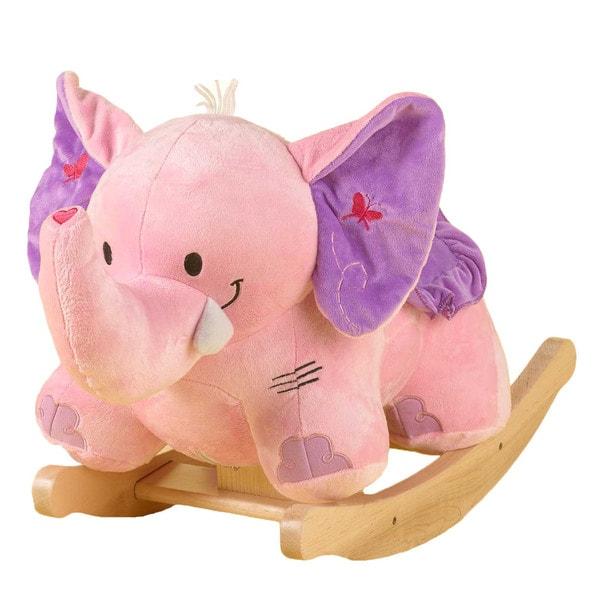 Bella the Pink Elephant Rocker