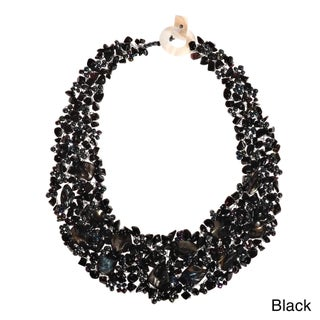 Handmade Luscious Cluster of Nature MultiStone Statement Collar Necklace (Philippines)