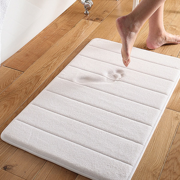 Elegant Super Soft And Absorbent Memory Foam 21x34 Bath Mat   21 X 34