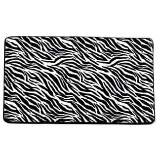 Super Soft and Absorbent 20x31 Exotic Faux Fur Zebra Print Bathmat