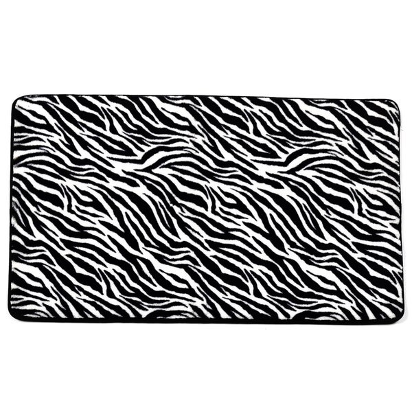 Super Soft and Absorbent 20x31 Exotic Faux Fur Zebra Print Bathmat