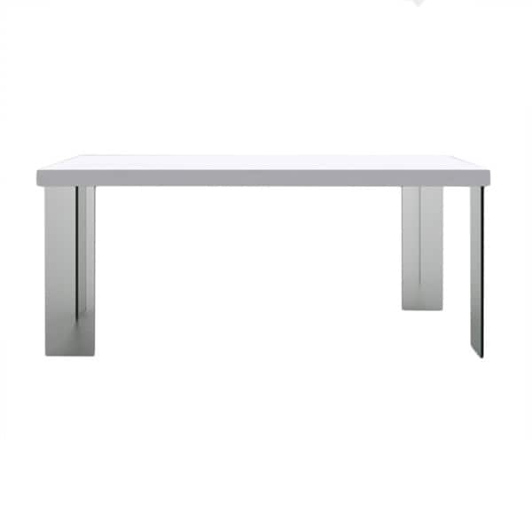 Shop Contemporary 70 Inch Dining Table With Glass Legs Free