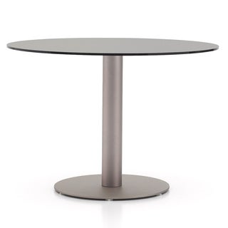 Modern Demetrius 43-inch Round Dining Table - Silver