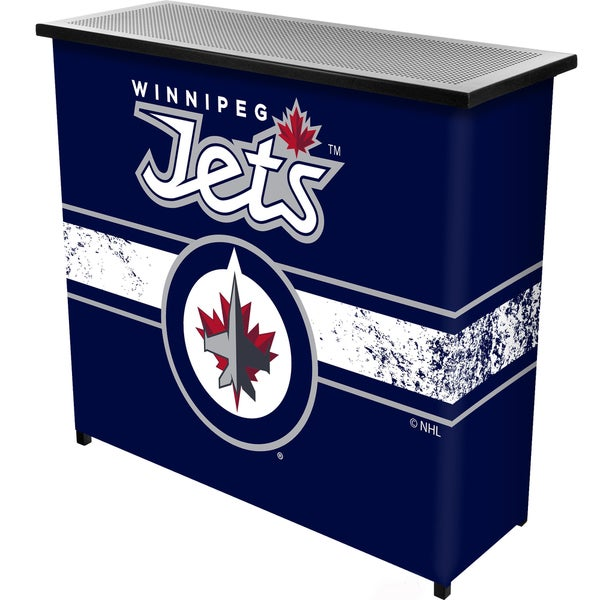 NHL Portable Bar with Case - Winnipeg Jets