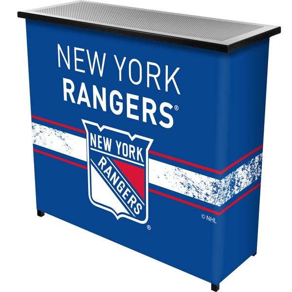 NHL Portable Bar with Case - New York Rangers