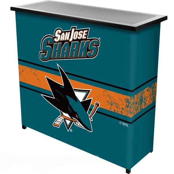 NHL Portable Bar with Case - San Jose Sharks