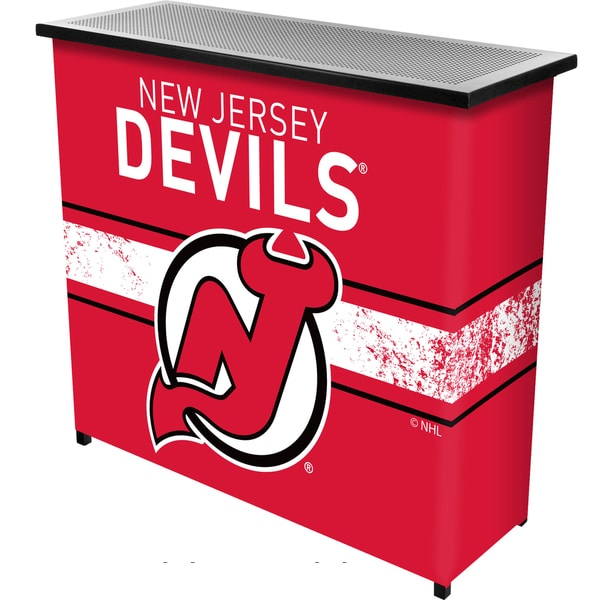 NHL Portable Bar with Case - New Jersey Devils