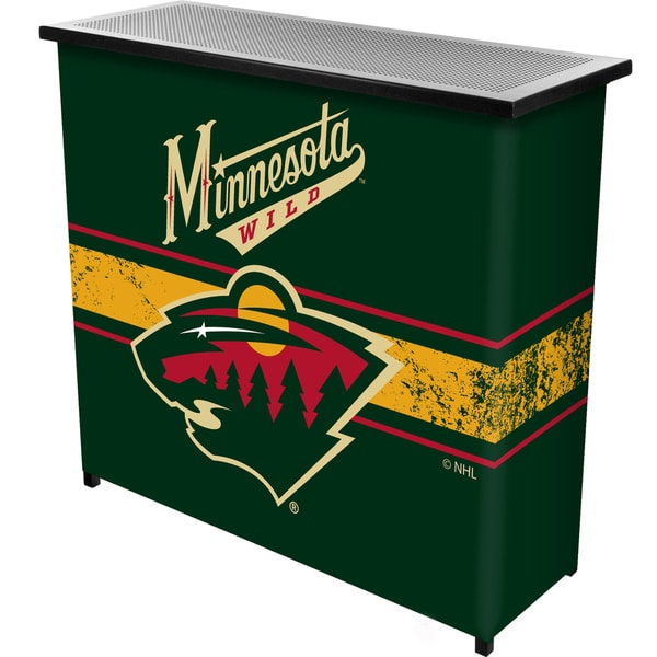 NHL Portable Bar with Case - Minnesota Wild