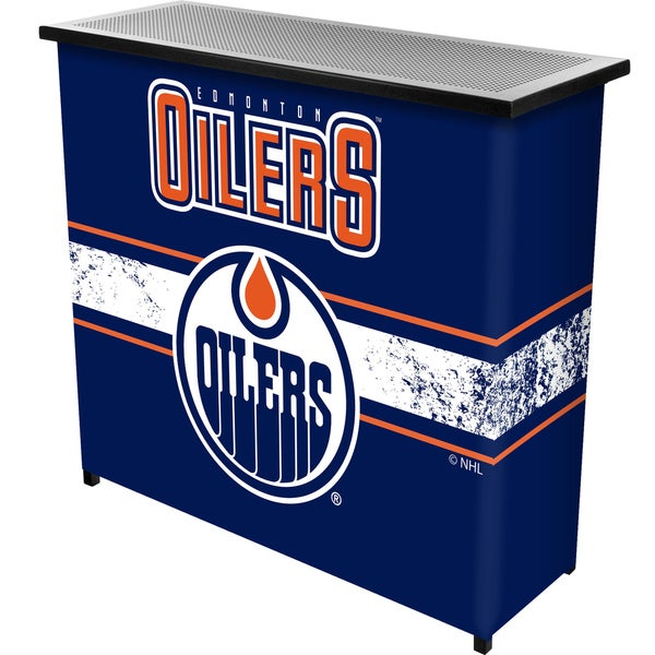 NHL Portable Bar with Case - Edmonton Oilers