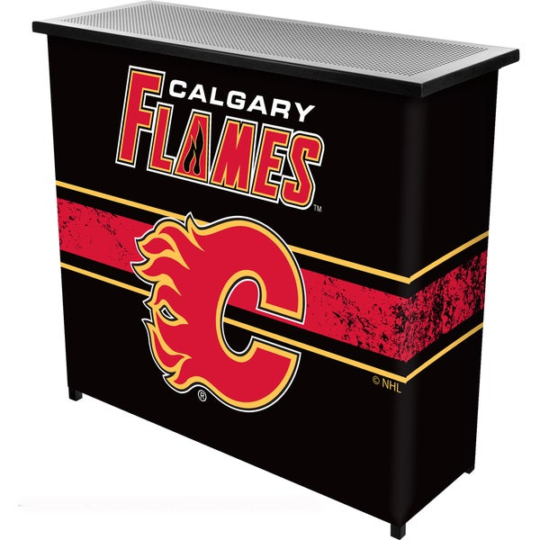 NHL Portable Bar with Case - Calgary Flames