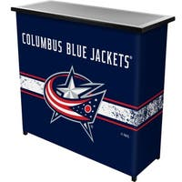 NHL Portable Bar with Case - Columbus Blue Jackets