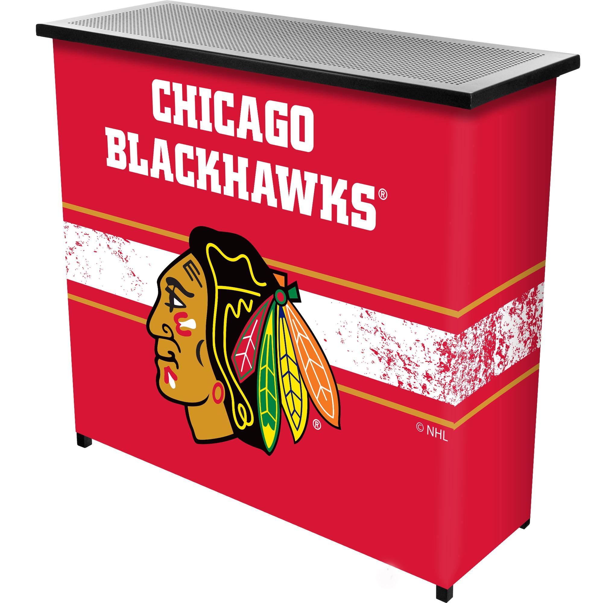 Trademark Gameroom NHL Portable Bar with Case - Chicago B...