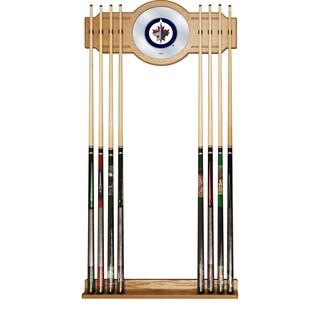NHL Cue Rack with Mirror - Winnipeg Jets