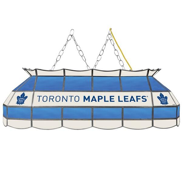 NHL  Handmade Tiffany Style Lamp - 40 Inch - Toronto Maple Leafs