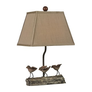 Sterling Little Birds On A Log Lamp
