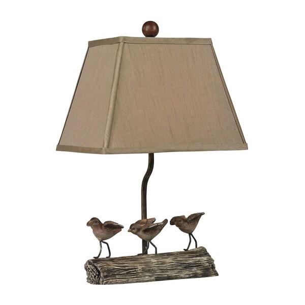 Sterling Little Birds On A Log Lamp