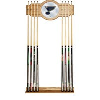 NHL Cue Rack with Mirror - St. Louis Blues