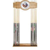 NHL Cue Rack with Mirror - New York Islanders